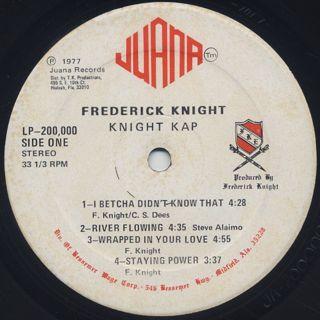 Frederick Knight / Knight Kap label
