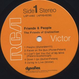 Friends Of Distinction / Friends & People label