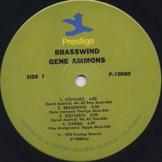 Gene Ammons / Brasswind label