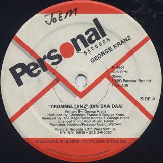 George Kranz / Trommeltanz (Din Daa Daa) label