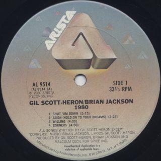 Gil Scott-Heron & Brian Jackson / 1980 label