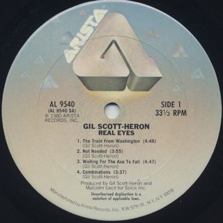Gil Scott-Heron / Real Eyes label