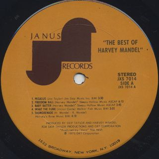 Harvey Mandel / The Best Of label