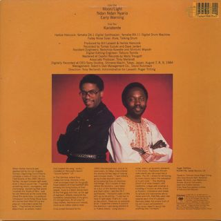 Herbie Hancock & Foday Musa Suso / Village Life back