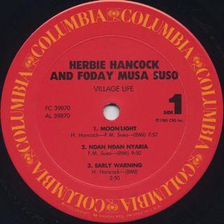 Herbie Hancock & Foday Musa Suso / Village Life label