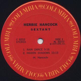 Herbie Hancock / Sextant label