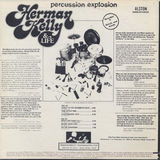 Herman Kelly and Life / Percussion Explosion back