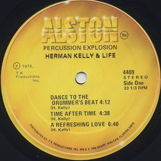 Herman Kelly and Life / Percussion Explosion label