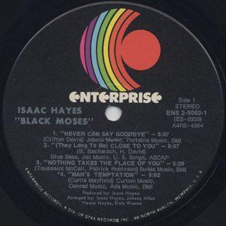 Isaac Hayes / Black Moses label