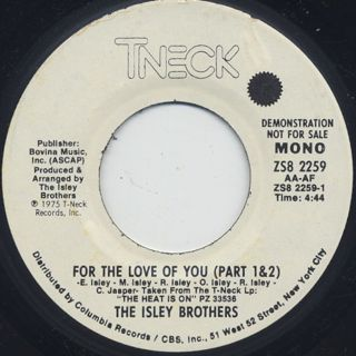 Isley Brothers / For The Love Of You back