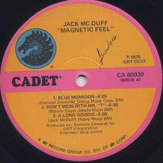 Jack McDuff / Magnetic Feel label