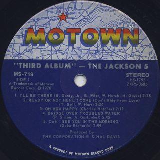 Jackson 5 / Third Album label