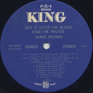James Brown / Say It Loud I'm Black And I'm Proud label