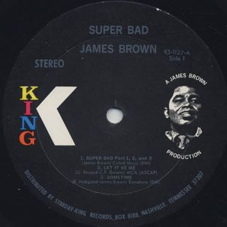 James Brown / Super Bad label