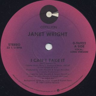 Janet Wright / I Can't Take It back