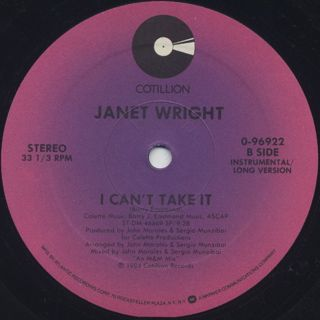 Janet Wright / I Can't Take It label
