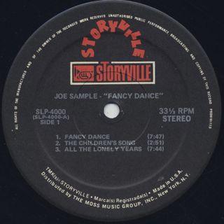 Joe Sample / Fancy Dance label