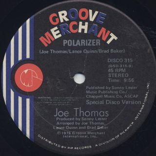 Joe Thomas / Funky Fever c/w Polarizer label