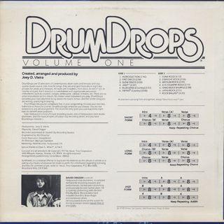 Joey D. Vieira / DrumDrops Volume One back