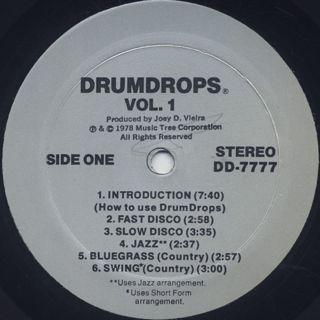 Joey D. Vieira / DrumDrops Volume One label