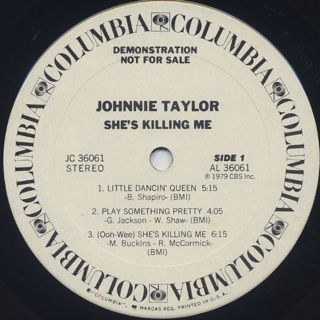 Johnnie Taylor / She's Killing Me label