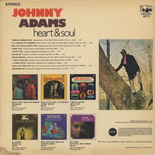 Johnny Adams / Heart And Soul back