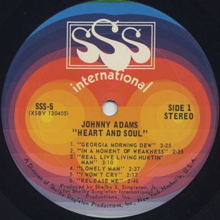 Johnny Adams / Heart And Soul label