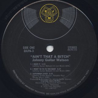 Johnny Guitar Watson / Ain't That A Bitch label