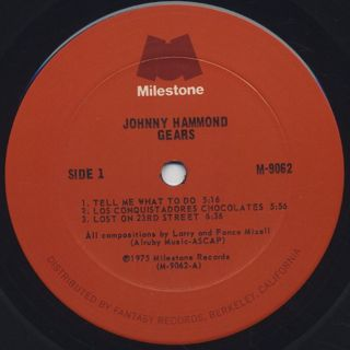 Johnny Hammond / Gears label