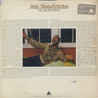 Jon Hendricks / Tell Me The Truth back