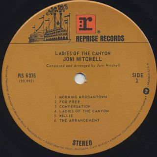 Joni Mitchell / Ladies Of The Canyon label
