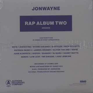 Jonwayne / Rap Album Two back