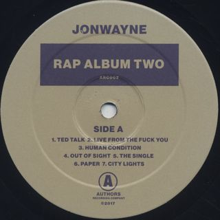 Jonwayne / Rap Album Two label