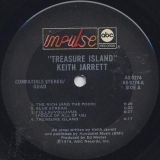 Keith Jarrett / Treasure Island label