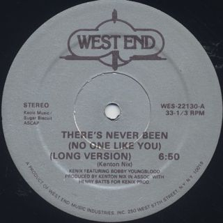 Kenix Featuring Bobby Youngblood / There's Never Been (No One Like You) back