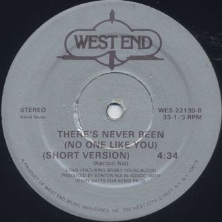 Kenix Featuring Bobby Youngblood / There's Never Been (No One Like You) label