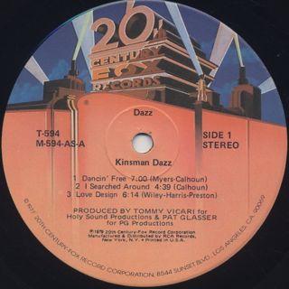 Kinsman Dazz / Dazz label
