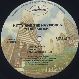 Kitty And The Haywoods / Love Shock label