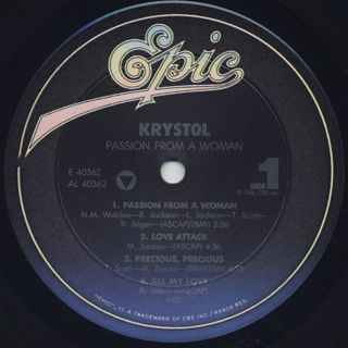 Krystol / Passion From A Woman label