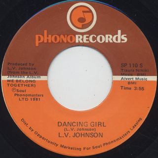 L.V. Johnson / The Whole Town's Laughing c/w Dancing Girl back