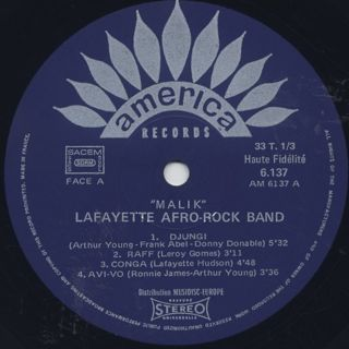 Lafayette Afro Rock Band / Malik label