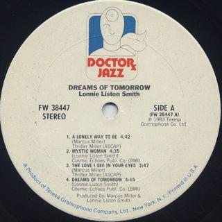 Lonnie Liston Smith / Dreams Of Tomorrow label