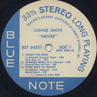 Lonnie Smith / Drives label