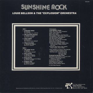 Louie Bellson & The Explosion Orchestra / Sunshine Rock back