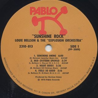 Louie Bellson & The Explosion Orchestra / Sunshine Rock label