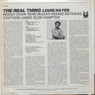 Louis Hayes / The Real Thing back