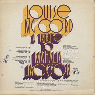Louise Mccord / A Tribute To Mahalia Jackson back