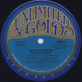 Love Unlimited / Love Is Back label