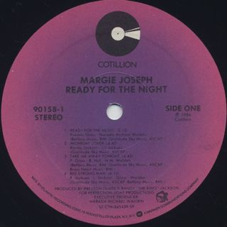 Margie Joseph / Ready For The Night label