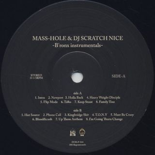 Mass-Hole & Scratch Nice / Bronx Instrumentals label